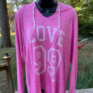 Lightweight Pink Hoodie XL